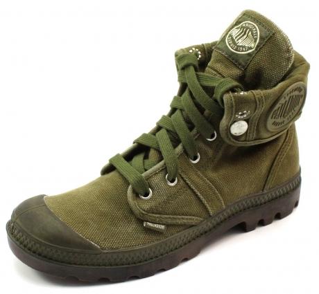 Palladium schoenen online Pallabrouse baggy Olive PAL48