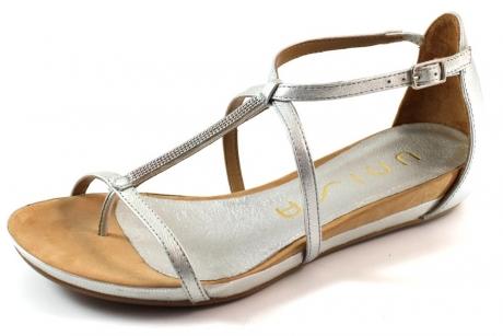 Unisa online sandaal Aine Zilver UNI50