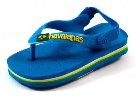 Havaianas online slipper Baby Brasil logo Blauw HAV05