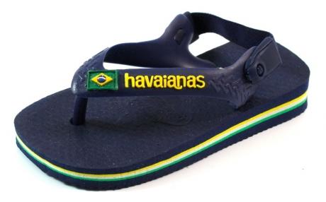 Havaianas online slipper Baby Brasil logo Blauw HAV01
