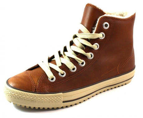5c557e3bb43 Converse All Stars gevoerde hoge sneakers Bruin CON20 « Shoe Outlet ...