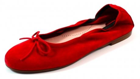 Beberlis online ballerina's dames Rood BEB25