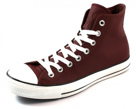 Converse All Stars hoge leren sneakers Rood CON18