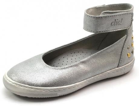 Clic ballerina met enkelband Zilver CLI30
