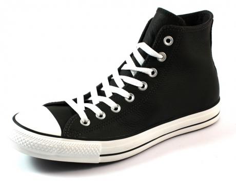 Converse All Stars hoge leren sneakers Zwart CON19