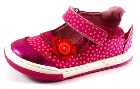 Shoesme schoenen met bloemetje EF4S009 Roze SHO26
