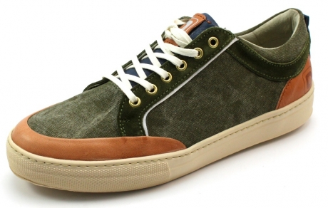 Shoe Republic schoenen online low lace Olive BLI03