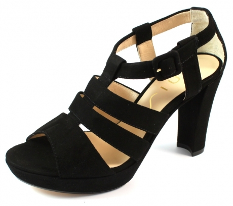 Unisa online sandaal Sasae Zwart UNI10
