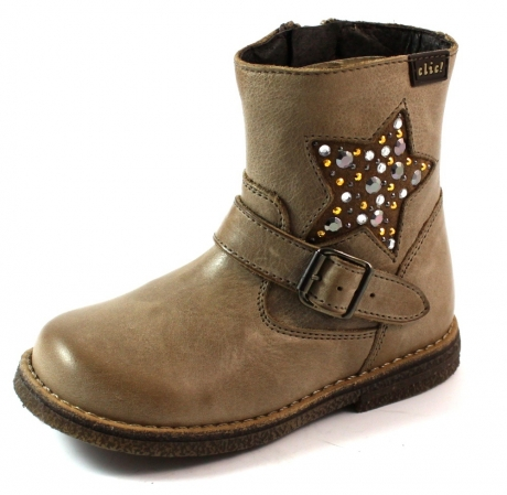 Clic online kinderlaars 8336 Taupe CLI16