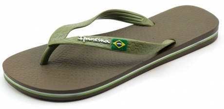 Ipanema slippers online Classic Brasil Olive IPA74