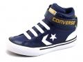 Converse Pro Blaze kindersneaker blauw, zwart, grijs en bruin