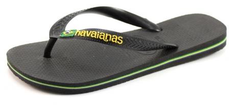 Havaianas slippers Brasil Logo Zwart HAV25