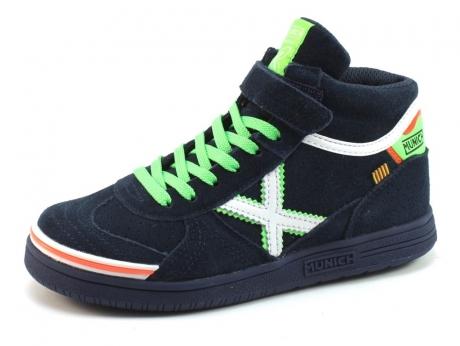 Image of Munich Hoge Sneaker 1574 Blauw Mun45