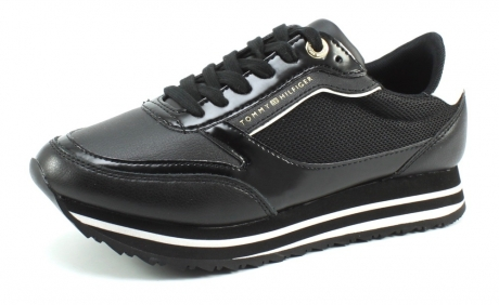 Tommy Hilfiger Retro branded sneaker Zwart TOM10