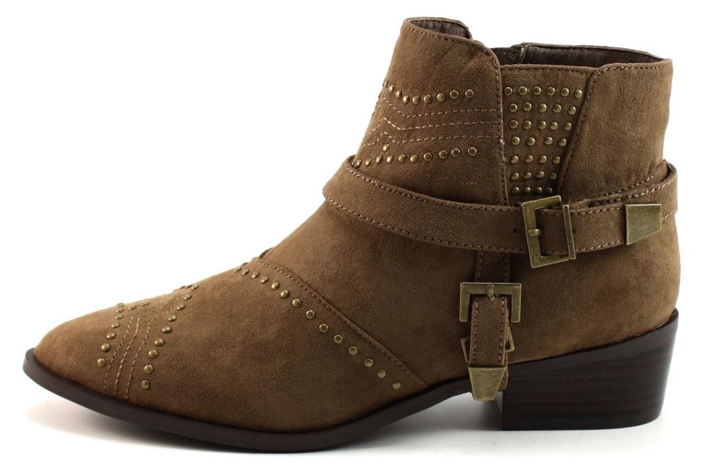 La strada 961275 enkellaars stoute schoenen - Taupe gekleurde ...