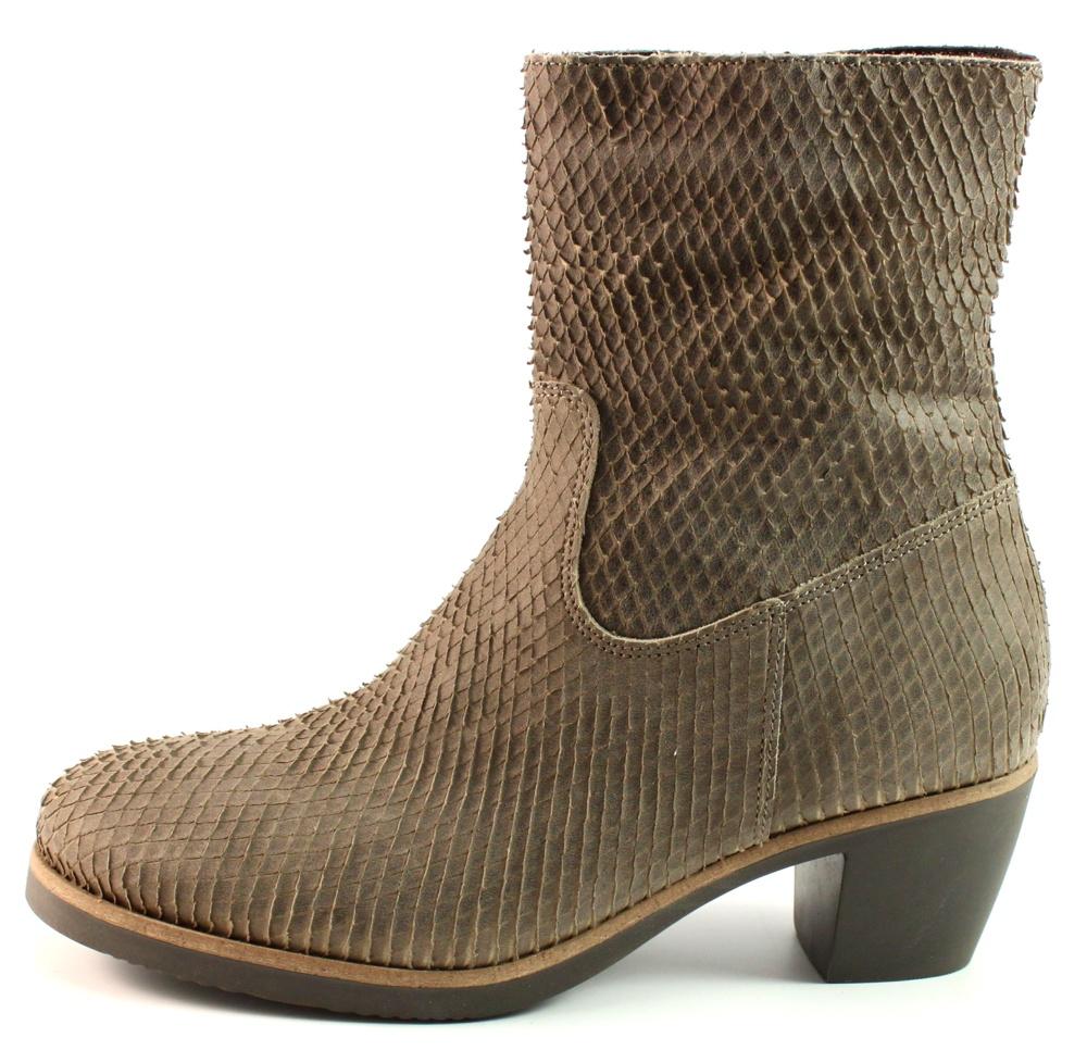Mery enkellaarzen swing 01 stoute schoenen - Taupe gekleurde ...