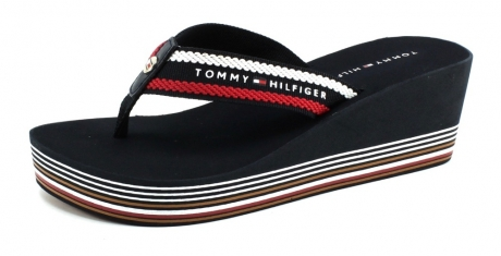 Tommy Hilfiger Stripy Wedge Blauw TOM49