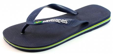 Image of Havaianas Slippers Brasil Logo Blauw Hav24