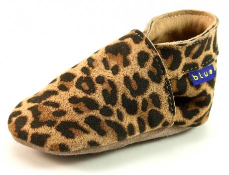Inch Blue babyslofjes Plain Leopard Panter - Pyton INC31