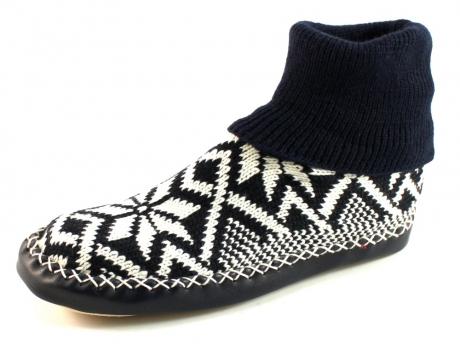 Litha heren pantoffels noors patroon Blauw LIT37