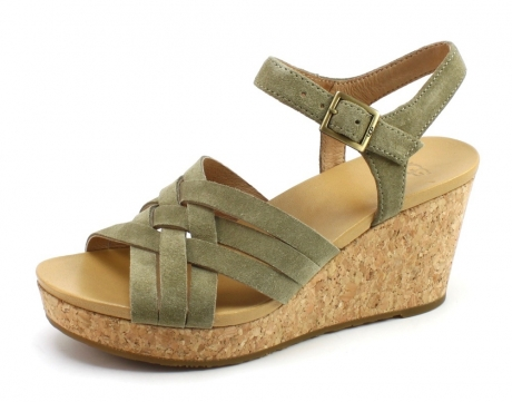 Image of Ugg 1019892 Uma Sandal Taupe Ugg45
