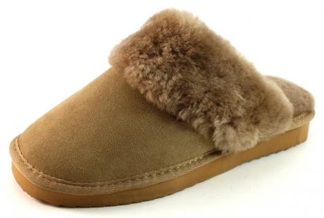 Warmbat Australia pantoffels flurry LSFL01 Beige - Khaki WAR03