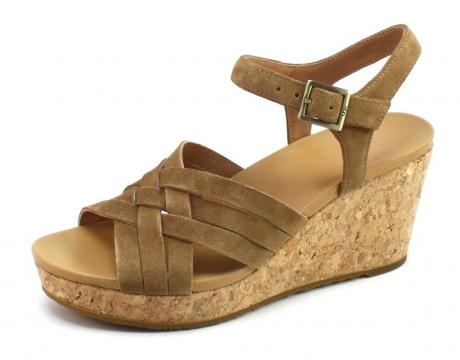 Image of Ugg 1019892 Uma Sandal Cognac Ugg77