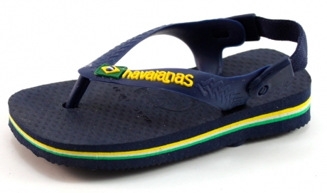 Image of Havaianas Slippers Baby Brasil Logo Blauw Hav01