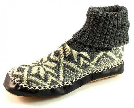 Litha heren pantoffels noors patroon Grijs LIT34