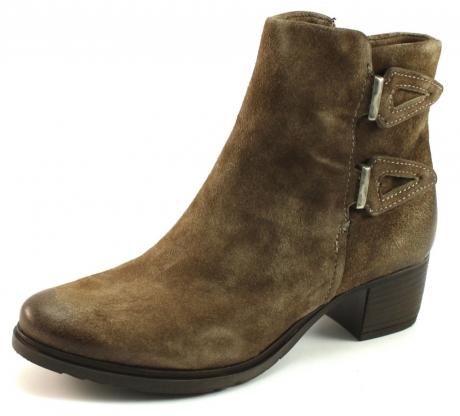 Mjus shoes stoere enkellaars taupe mjus in de aanbieding kopen - Taupe gekleurde ...