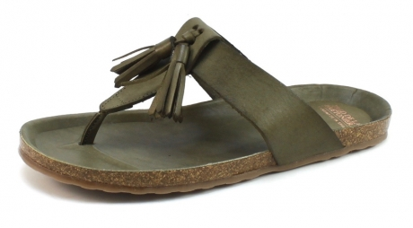 Image of Fred De La Bretoniere 170010023 Slipper Olive Fre22