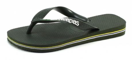 Havaianas slippers Kids Brasil logo Olive HAV30