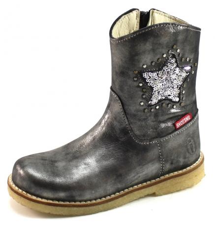 Shoesme crêpe laarsje ster Zilver SHO06
