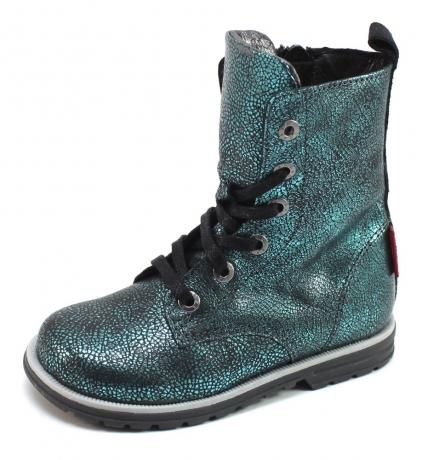 Shoesme DE7W093 veterlaarsje Licht blauw SHO47