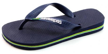 Image of Havaianas Slippers Kids Brasil Logo Blauw Hav15