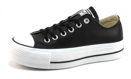 converse platform zwart