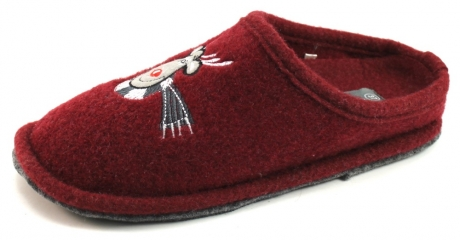 Stoute Schoenen House Shoe pantoffels Rood HOU03