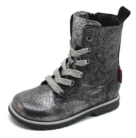 Shoesme DE7W093 veterlaarsje Zilver SHO48