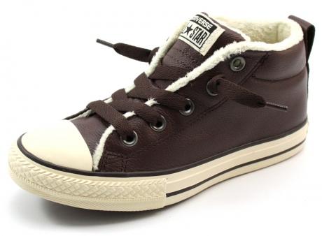 converse schoenen leer