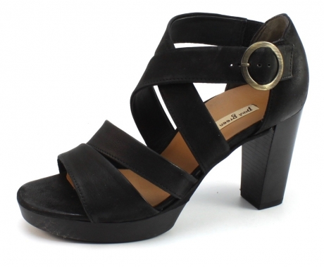 Paul Green 6657 sandal Zwart PAU06