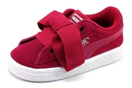 Puma Suede Heart kids sneaker Fuchsia PUM42