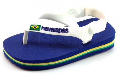 Image of Havaianas Slippers Baby Brasil Logo Blauw Hav49