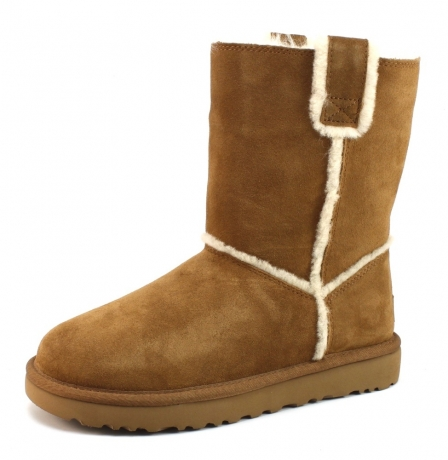 Image of Ugg 1098078 Classic Short Spill Seam Cognac Ugg65
