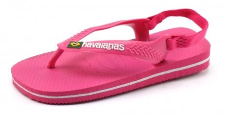 Image of Havaianas Slippers Baby Brasil Logo Roze Hav03