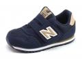 New Balance 373 kindersneaker blauw, bruin en grijs