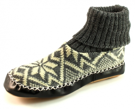 Litha gebreide pantoffels Grijs LIT27