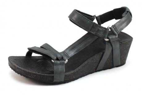 Teva Ysidro sandaal wedge Zwart TEV32