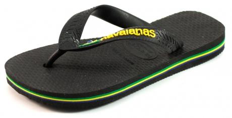 Image of Havaianas Slippers Kids Brasil Logo Zwart Hav10