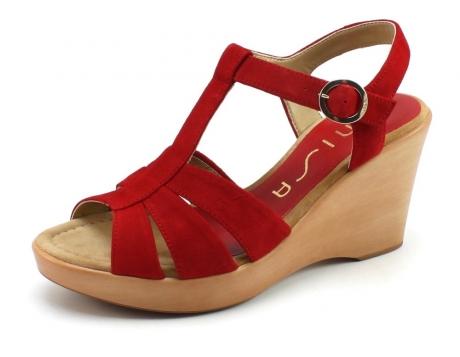 Unisa Rocin-ks sandaal Rood UNI23